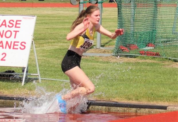Isle of Wight County Press: Millie Bacon, who won gold in the 1,500m steeplechase.