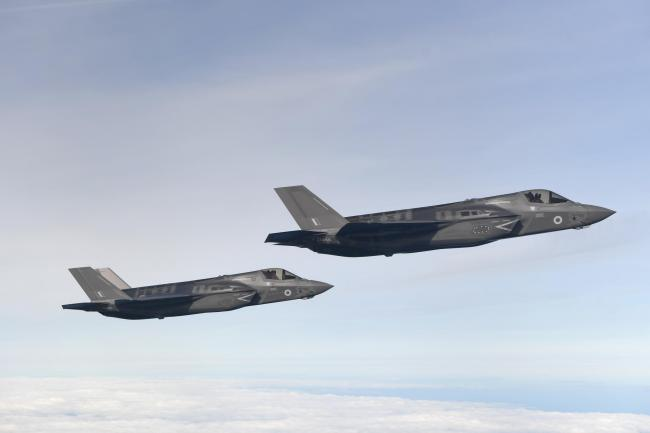 Two F35-B Lightning stealth jets