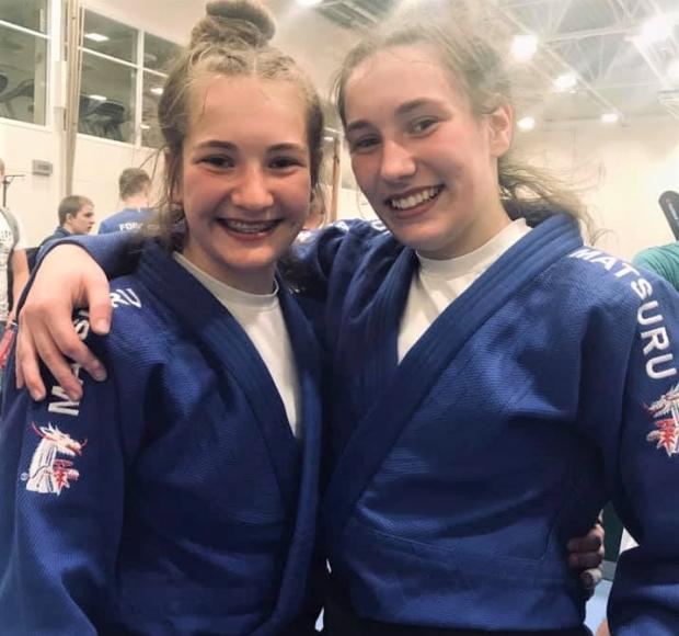 Isle of Wight County Press: Sisters Hannah and Emily Niven did the Isle of Wight proud by winning individual gold medals in judo yesterday (Monday). Photo: Matt White