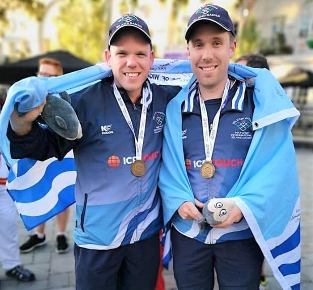 Isle of Wight County Press: Team Isle of Wight marksmen Matt Reed and Perron Phipps have now won two gold medals each at the Island Games, following their superb performance in the 10m team pistol event in Gibraltar yesterday (Tuesday).