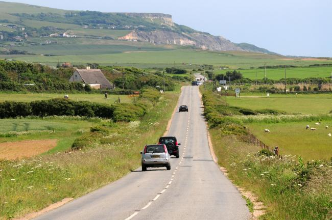 The Military Road which runs between Freshwater Bay and Chale.