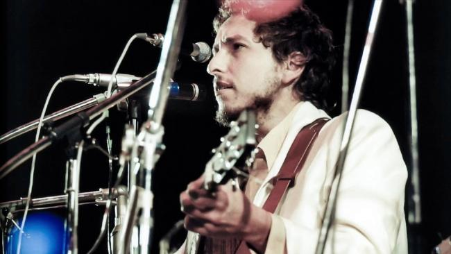 Bob Dylan on the Isle of Wight in 1969.