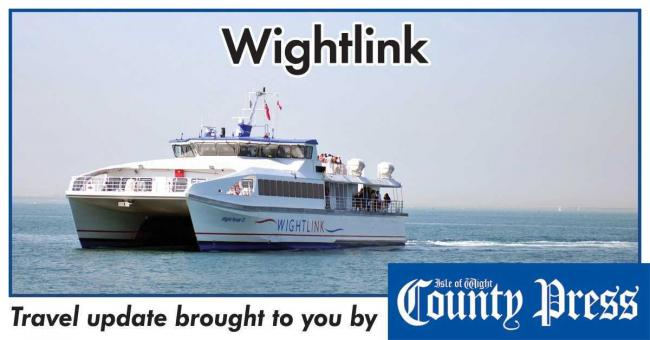 Cancellations and hour-long delays on Wightlink services.