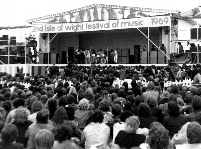 The 1969 Isle of Wight Festival.