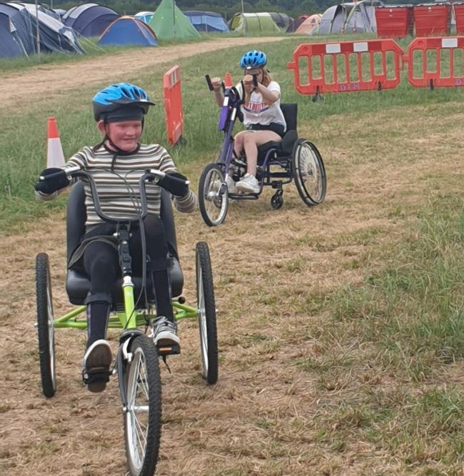 Isle Access showcased the new accessible bikes at The Great Wonderfest.