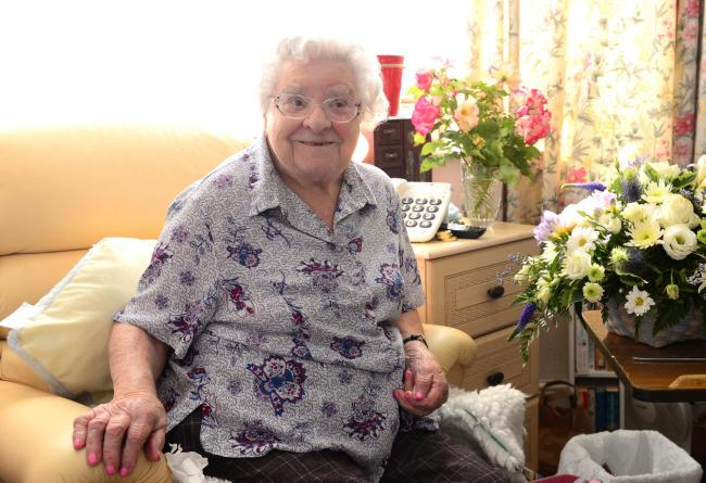 Freshwater - The Square - Ancona Care Home - 107 year old Mona Perry