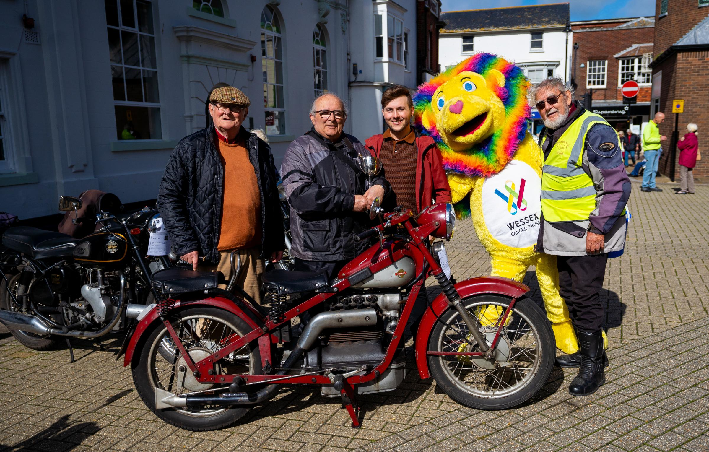 Cold steel and hot fuel ­— St Thomas' Square welcomes annual vintage bike rally