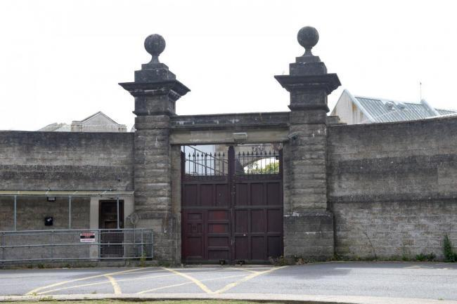 The gates of the old Camp Hill prison.
