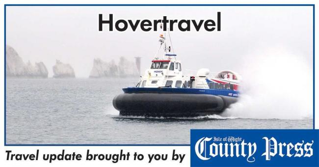 Hovertravel services cancelled due to adverse weather.
