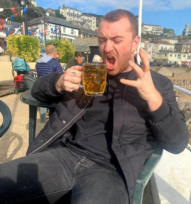 Sam Smith at the Spyglass Inn. Picture: Sam Smith Instagram.