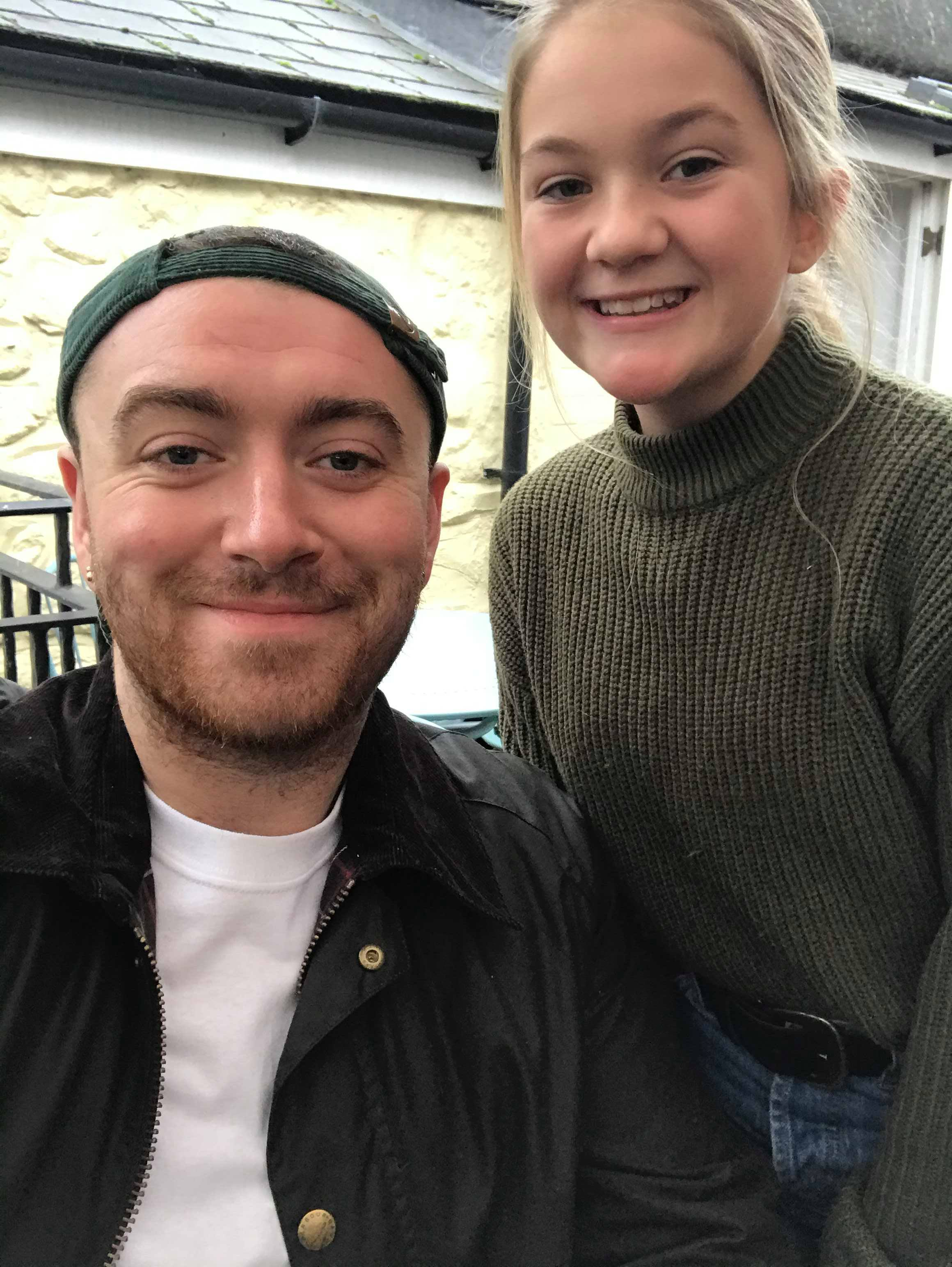Singer Sam Smith spotted on the Isle of Wight again today
