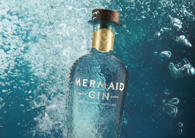 Mermaid Gin's prizewinning design.