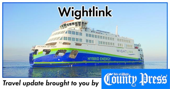 Wightlink travel update.