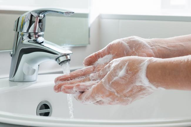 Hygiene. Cleaning Hands. Washing hands..