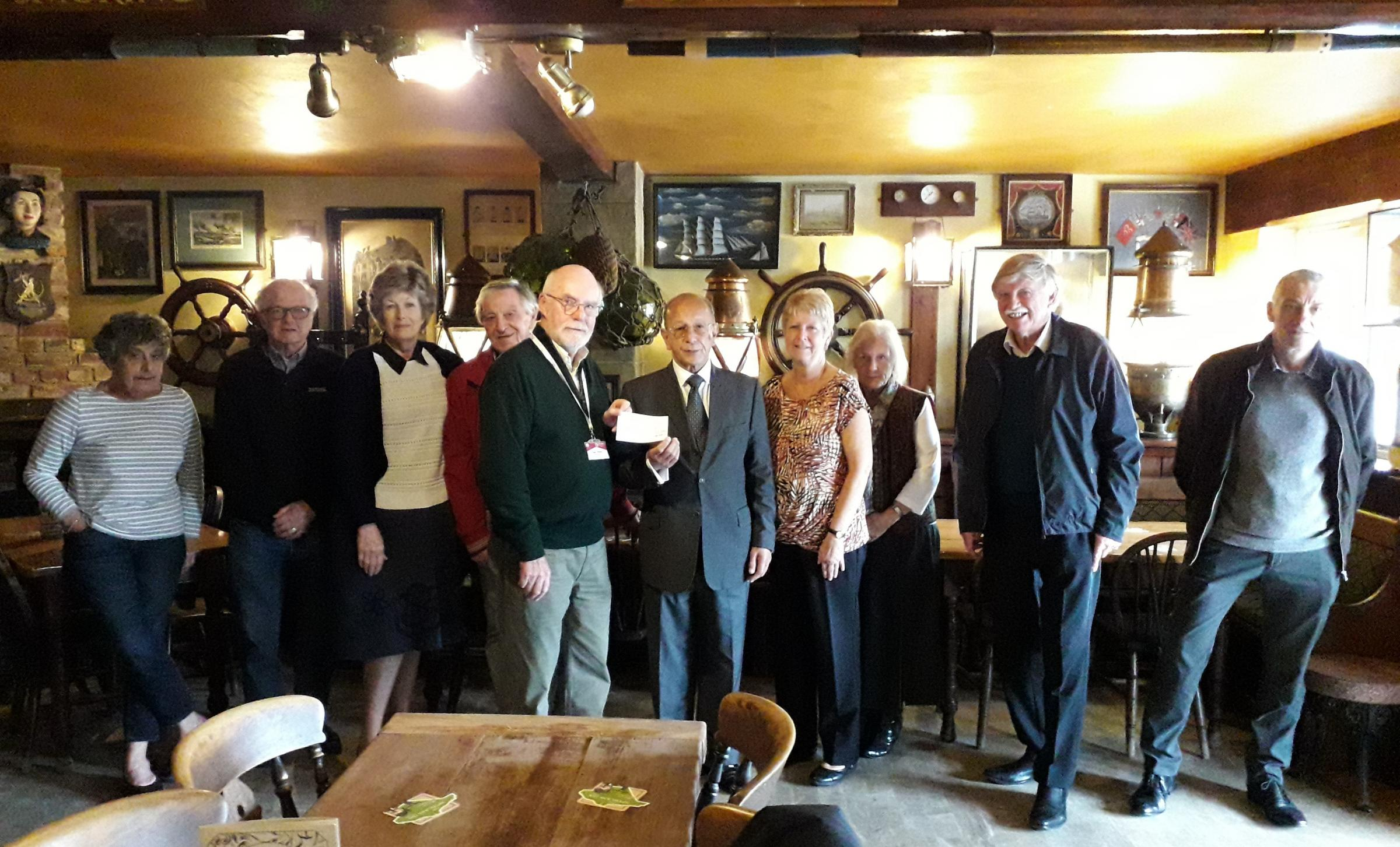 Osborne Lodge freemasons make £300 donation to Isle of Wight support group
