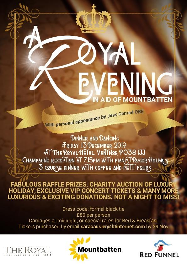 The Royal Hotel in Ventnor will host an evening of dinner and dancing to raise funds for Mountbatten.