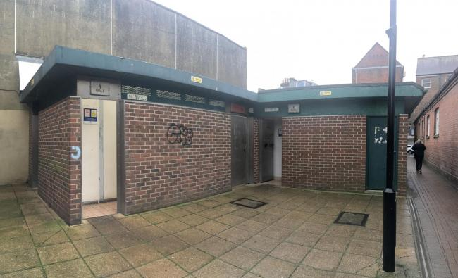 The current toilet block in Post Office Lane, Newport, which will be demolished.