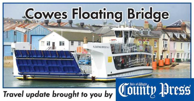 The Cowes floating bridge is out of service this morning.