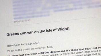 Isle of Wight Green Party left apologising for data protection breach