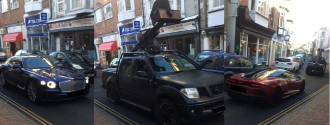Filming taking place in Ventnor High Street. Pictures by Lloyd Barrier.