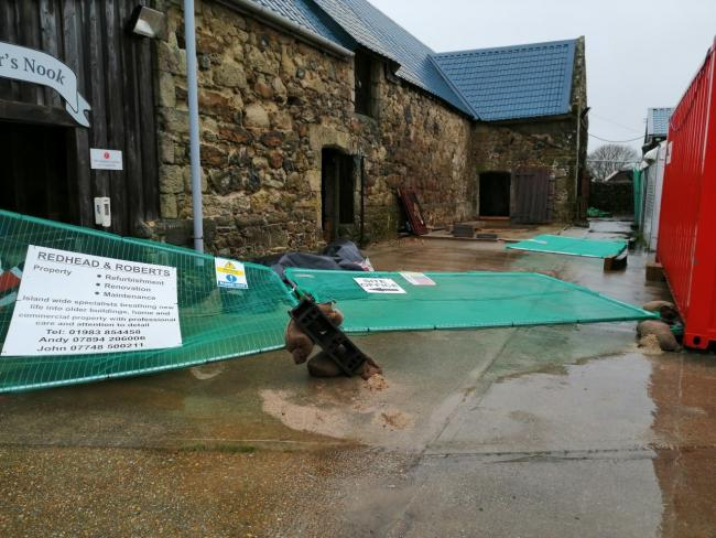 The scene at the Isle of Wight Donkey Sanctary after Storm Ciara.