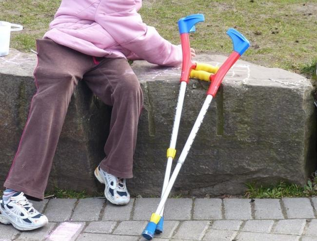 Man hit mother with her own crutches. Stock picture.