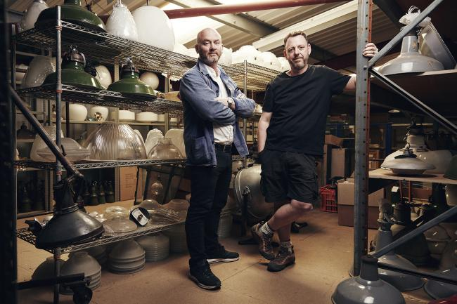 Drew Pritchard (left) and Tee John from Salvage Hunters