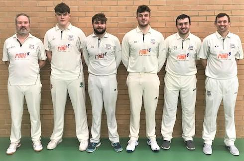 Isle of Wight County Press: The victorious Ryde team which beat Bashley in the ECB Indoor National Club Championship semi-finals — from left: Dave Pratt, Ollie Morgan, Stuart Robertson, Josh Proctor, Ash Goldsmith and Mark Oatley.