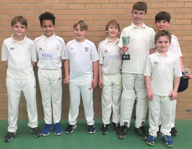 The Ryde U12 indoor team which clinched the Isle of Wight U12 Indoor League title after beating Ventnor.