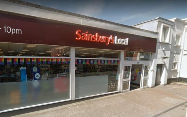 Sainsbury's Local, in Freshwater. Picture courtesy of Google Maps.