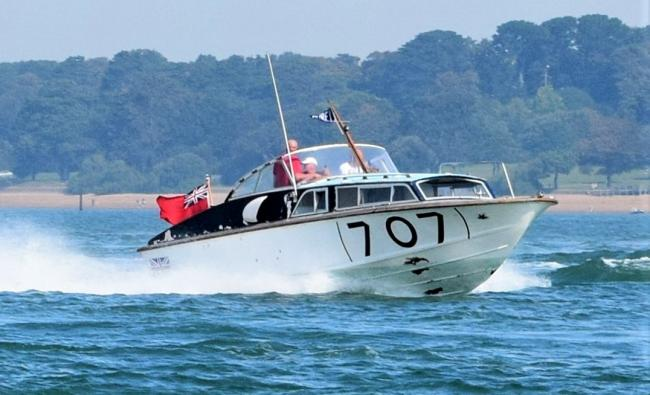 The Fordsport 707 undergoing speed trials on The Solent recently.