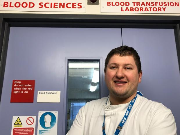 Isle of Wight County Press: Darts supremo Keegan Brown also works for the NHS as a blood sciences lab assistant at St Mary's Hospital, Newport, on the Isle of Wight.