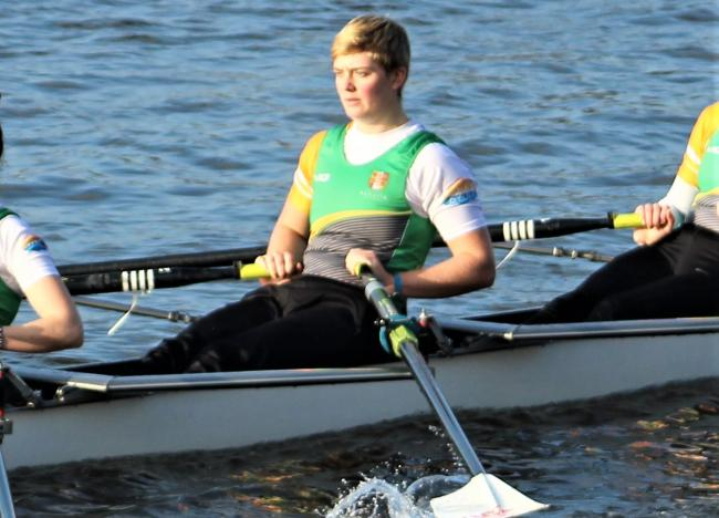 Bass Andre, of Sandown, earned a rowing scholarship to study in the United States.  Photos: Bangor University