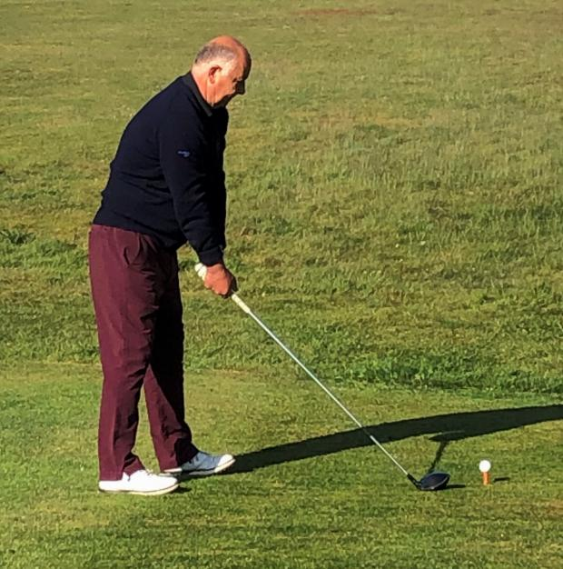 Isle of Wight County Press: Shawn Ford, club captain at Shankllin Sandown Golf Club, teeing off at 8am this morning (Wednesday) — one of the first to play since the country went into enforced lockdown.