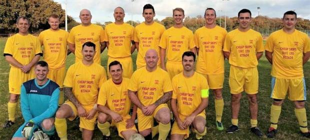Isle of Wight County Press: The Isle of Wight Fire and Rescue Service football team.