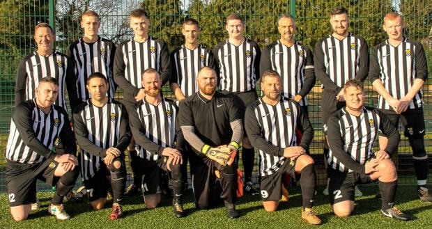Isle of Wight County Press: The HMP Isle of Wight football team.