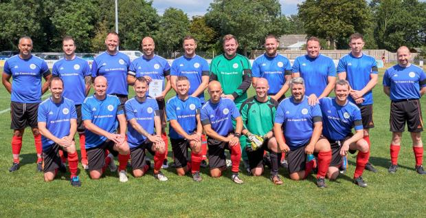 Isle of Wight County Press: The Island police's football team.