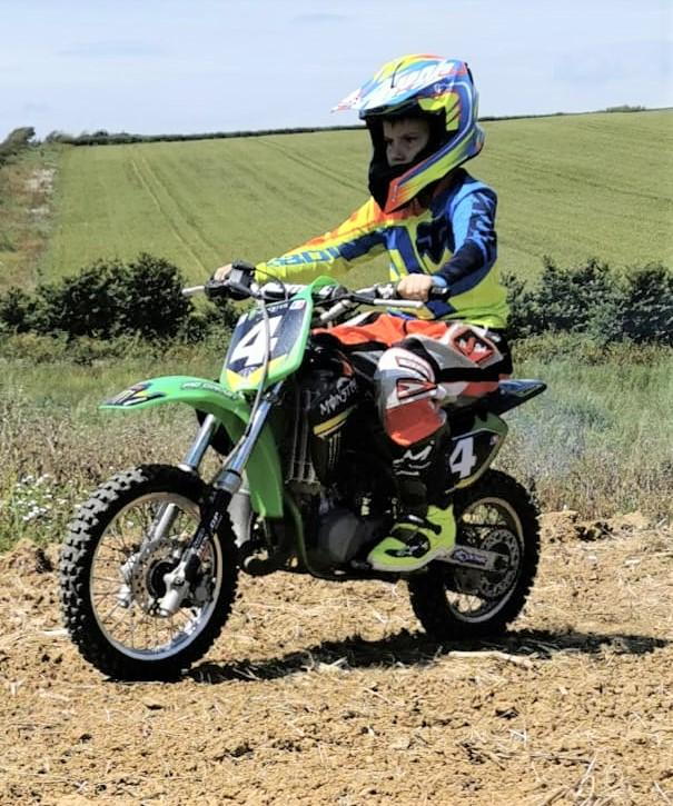 Isle of Wight County Press: Beppe Collins, aged ten — one of the youngest riders to use the new MotoxIOW tracks on Saturday.