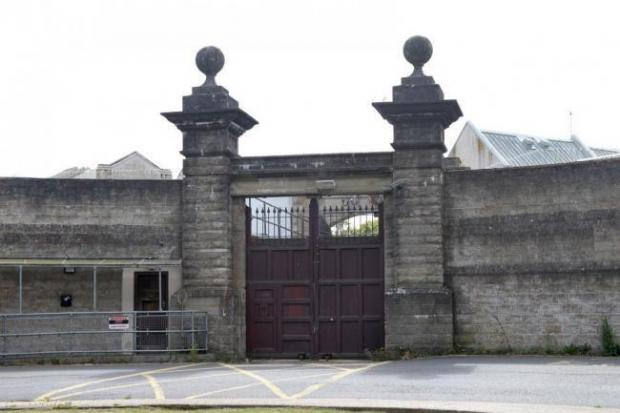 Isle of Wight County Press: The gates of the old Camp Hill prison.