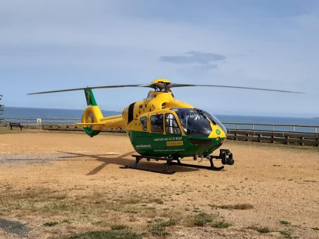 File pic: Air Ambulance visited Yaverland this afternoon after a woman suffered a suspected heart attack