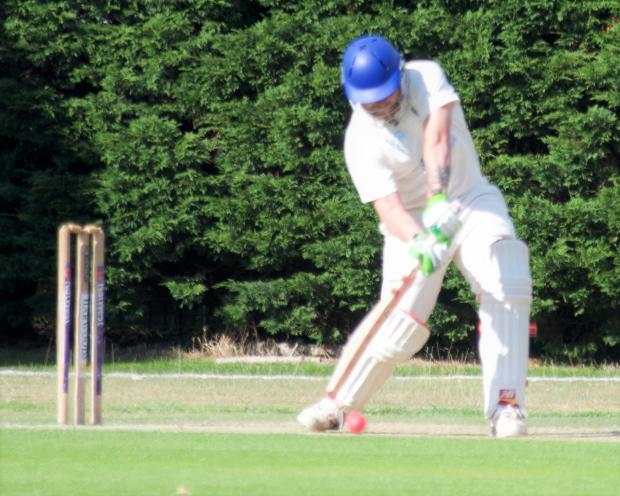 Isle of Wight County Press: Jordan Langdon in bat during the Northwood Cricket Club inter-club challenge match in Cowes on Saturday.