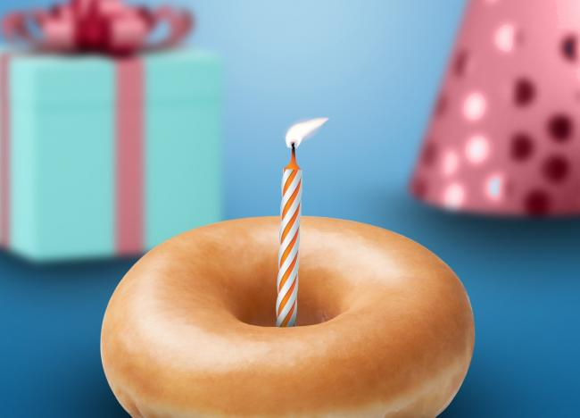 Krispy Kreme is giving free doughnuts to those who had a birthday during lockdown. Picture: Krispy Kreme