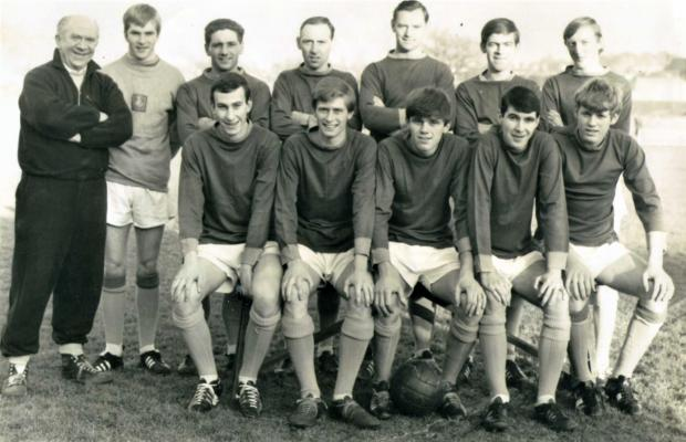 Isle of Wight County Press: Barry (front row, centre) was part of a good Newport side in the mid-60s.