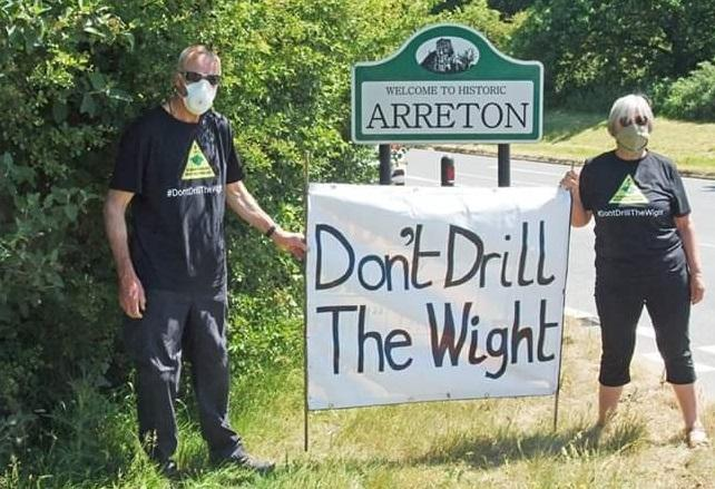 Don't Drill the Wight protesters.