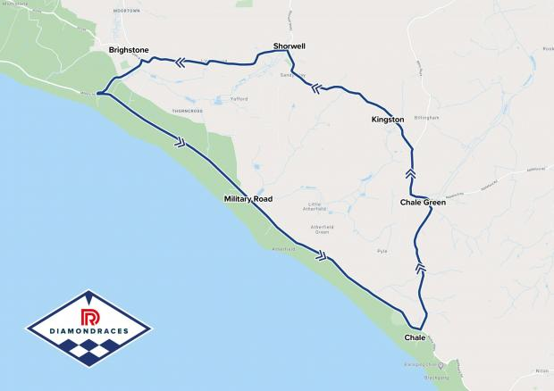 Isle of Wight County Press: The actual Diamond Races course on the Isle of Wight.