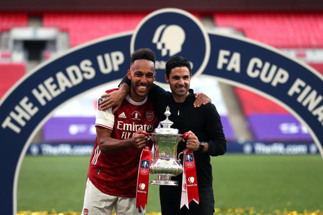 Arsenal manager Mikel Arteta is hoping to keep hold of Pierre-Emerick Aubameyang
