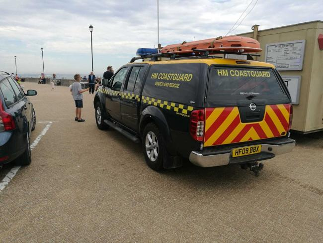 Coastguard teams were in Ryde today following reports of a missing child.