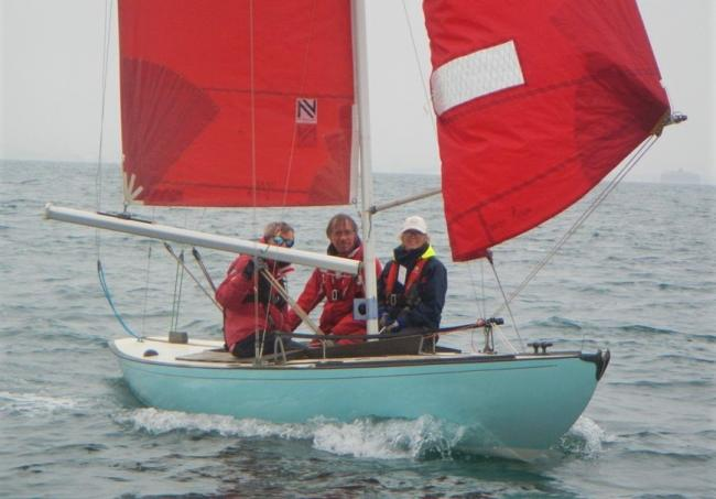 Bembridge Sailing Club's Colin Samuelson and crew in action on Toucan during Bembridge Week.  Photo: Mike Samuelson