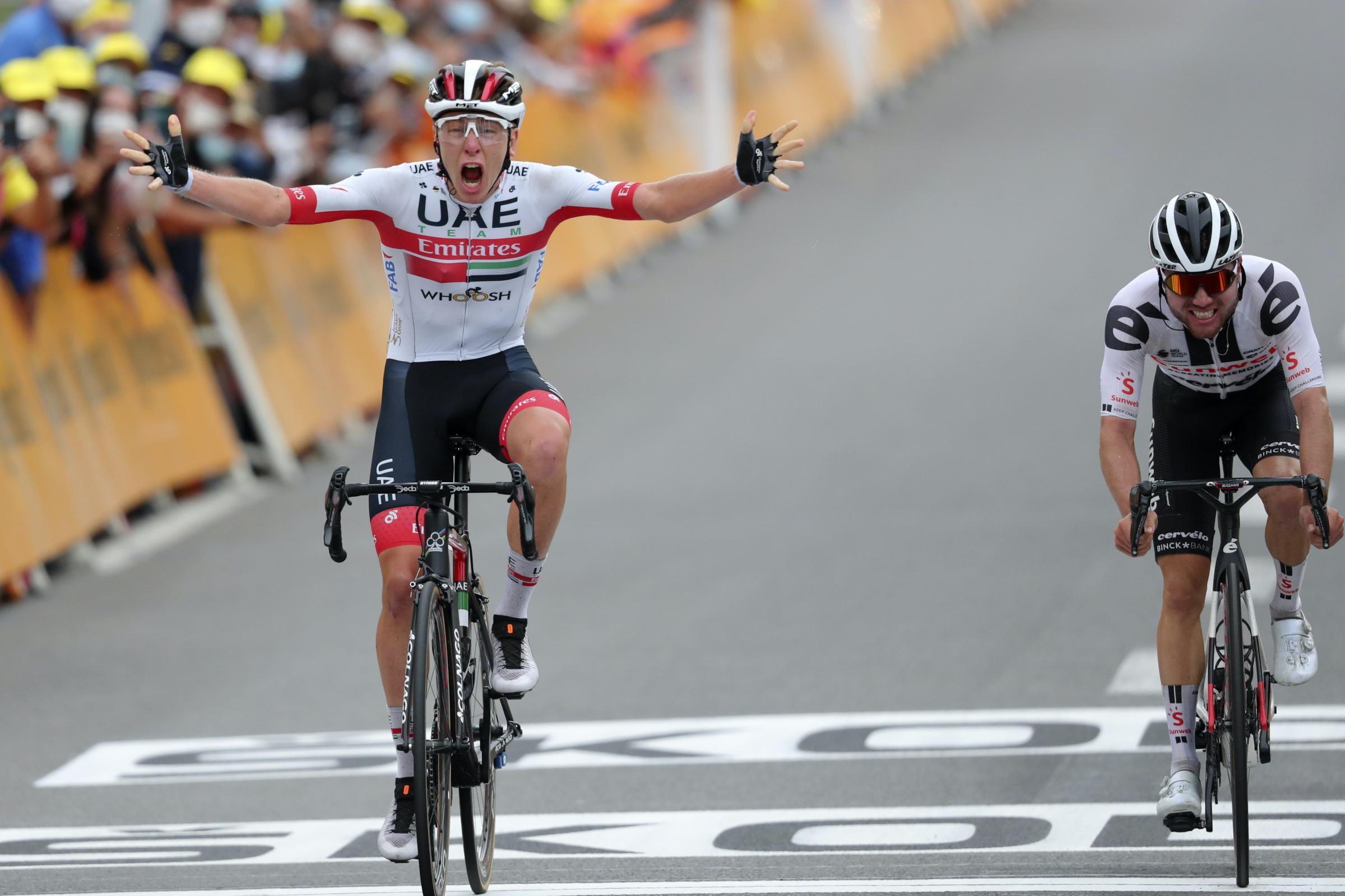 Adam Yates yields yellow jersey to Primoz Roglic as Tadej Pogacar wins  stage | Isle of Wight County Press