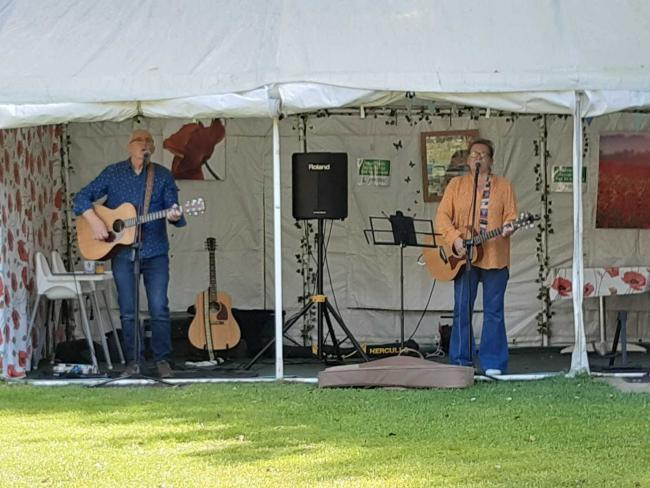 Ruby and Her Diamonds playing at Ventnor Park last Sunday, September 6.